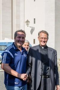 Thomas Biehler mit Hans-Peter Fischer (Rektor des Campus Santo Teutonico)